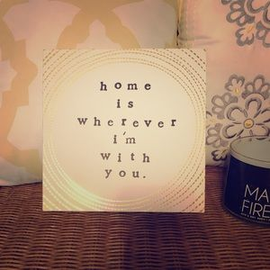 Home is wherever I'm with you canvass wall art